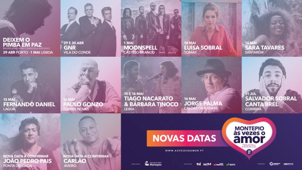 Festival Montepio Às Vezes o Amor com novas datas 2021