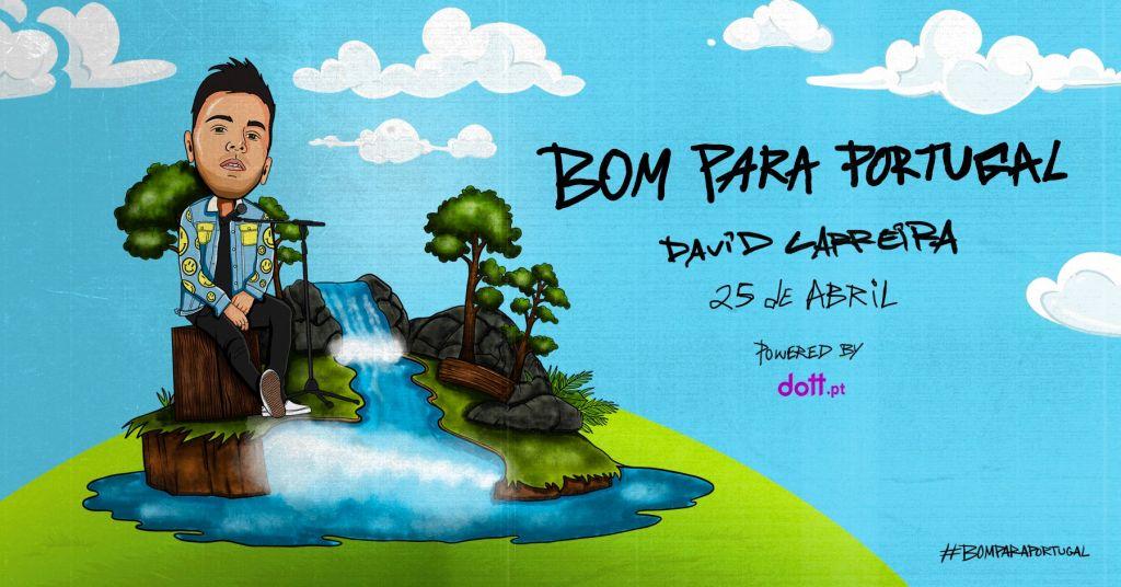 David Carreira - Bom Para Portugal live direto youtube