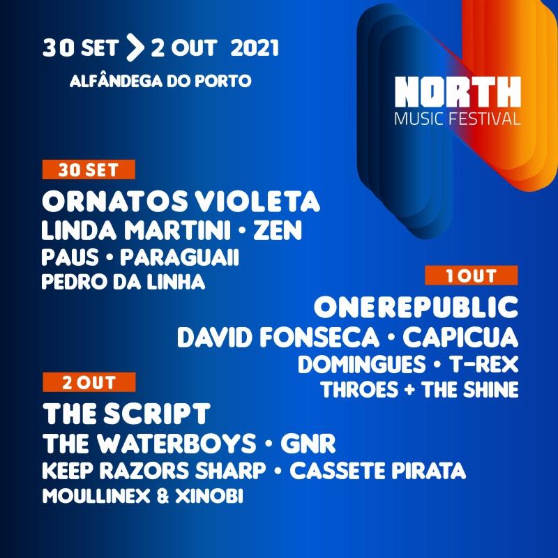 Cartaz do North Music Festival 2021