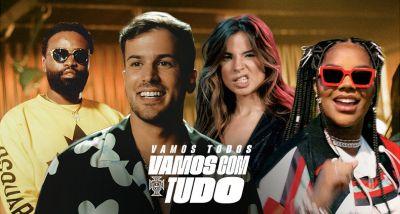David Carreira - Seleção - Portugal - Euro 2020 - Vamos com Tudo - Ludmilla - Giulia Be - Preto Show - letra - lyrics - vídeo