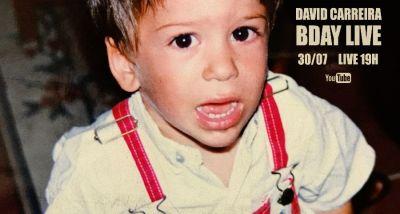David Carreira - aniversário live youtube